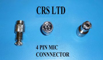 CB 4 PIN MALE MIC PLUG SELF CONNECT FOR CB MICS HGV LORRY 27 MHZ EQUIPMENT